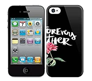 Best Power(Tm) HD Colorful Painted Watercolor Our Forevers Go Together Hard Phone Case For Iphone 4/4S