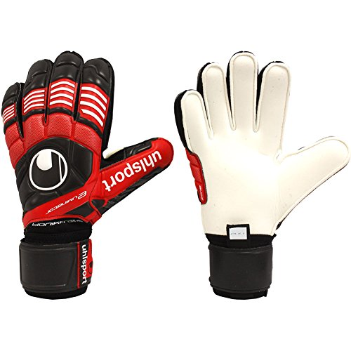- uhlsport Mens ELIMINATOR SUPERSOFT BIONIK FRAME FINGER PROTECTION Goalkeeper Gloves Soccer