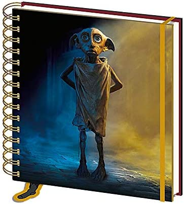 Echter Harry Potter Dobby House Elf Square Hardcover Notizbuch Papier Notizblock Hogwarts