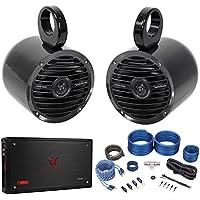 (2) Jeep Wrangler Rockford Fosgate 6.5 Soundbar/Roll Bar Speakers+Amplifier+Kit