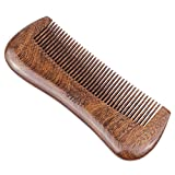 Handmade Beard and Hair Wood Comb - Black Sandalwood Fine Teeth...