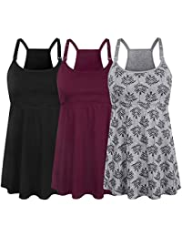 Women's Nursing Tank Top Cami Maternity Bra Breastfeeding Clothes