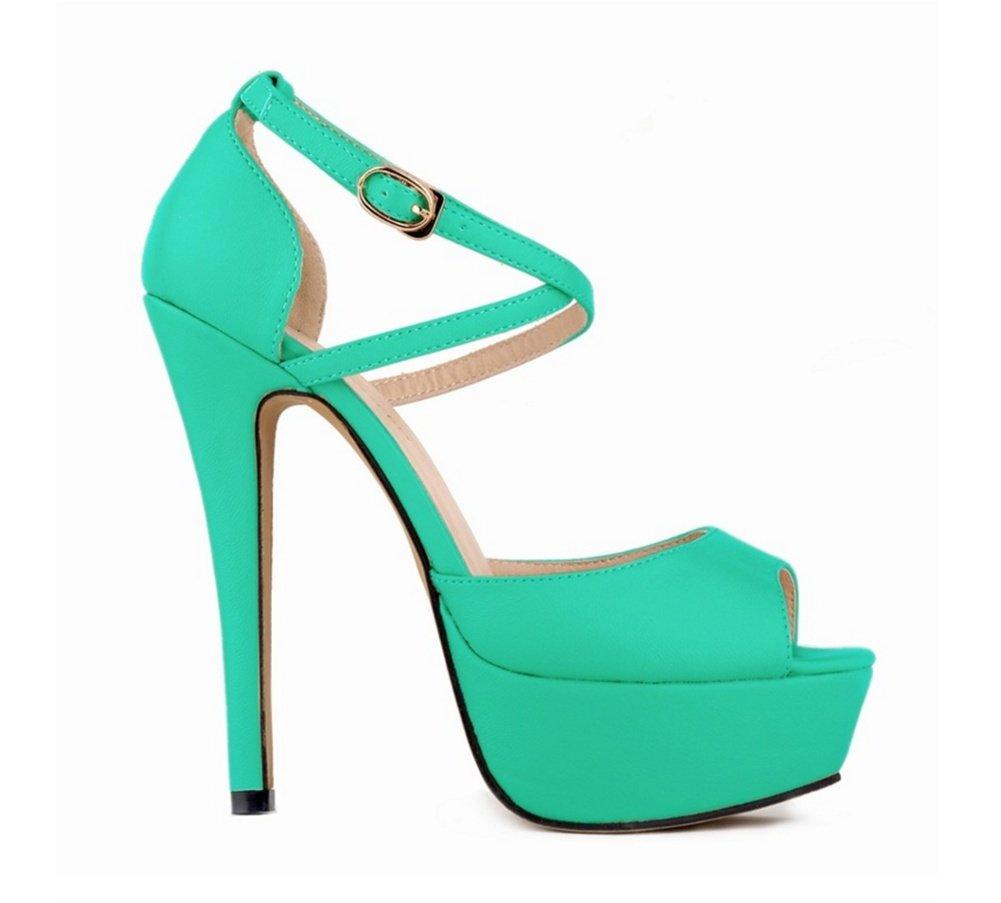 39-LIGHTvert OOFAY Chaussures à Talons Hauts Hauts Hauts Eté Grande Cour Plateforme imperméable à Talons Night Club Poisson Bouche Sandales Femme 35-41 990
