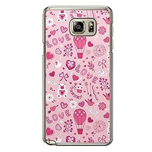 Loud Universe Samsung Galaxy Note 5 Love Valentine Printing Files A Valentine 21 Printed Transparent Edge Case - Pink