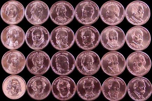 Presidential Dollar Set FULL Complete through 2012 Philadelphia (P) Mint 24 Coins (through Cleveland 2nd Term)