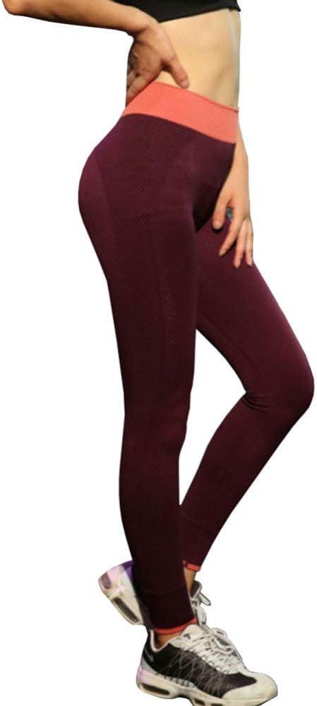 WTDlove Colorear Puntos Pantalones Fitness, Entrenamiento de Deportes de Fino elástico Apretado de Cintura Alta
