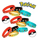 Pokemon Party Supplies Silicone Wristband Bracelet Favors 12 Count