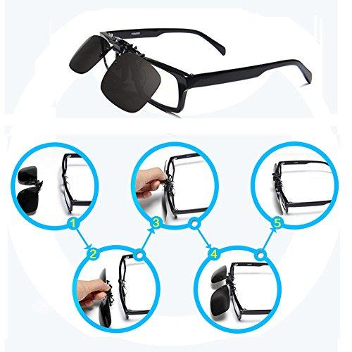 Gafas Metal de para mujeres gafas recetados de Clip y gris 3027m para Up hombres Clip Gafas sol Flip sin On montura sol VEGOOS twPOXn