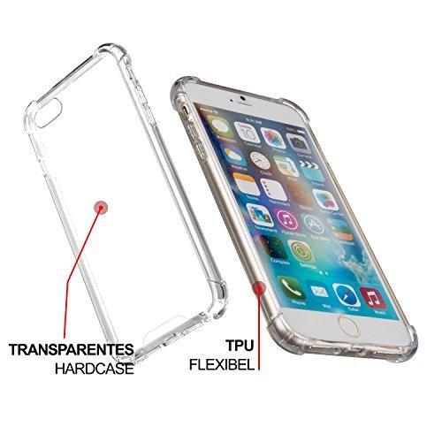 YaYago Étui pour Apple iPhone 7dur Coque en silicone avec coins geschützten Étui transparent