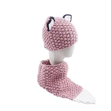 Oplon Baby Hat Pañuelo para bebé Set Cartoon Fox Ear Style ...