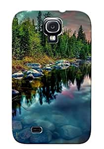 New Snap-on Illumineizl Skin Case Cover Compatible With Galaxy S4- Sunset Over The Lake by lolosakes