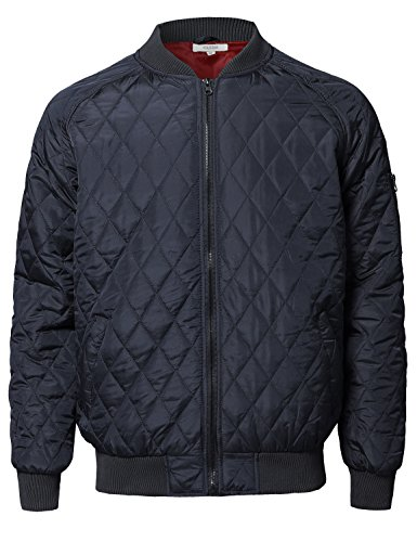 navy quilted jacket - 9