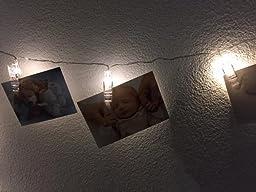 lichterkette von led foto klammer perfekt f r aufh ngen von bildern notizen kunst 4 5 meter. Black Bedroom Furniture Sets. Home Design Ideas