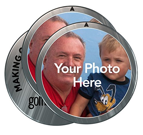 (Golfballs.com Personalized Custom Photo Ball Markers - 3 Pack )