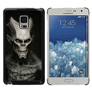 Caucho caso de Shell duro de la cubierta de accesorios de protección BY RAYDREAMMM - Samsung Galaxy Mega 5.8 - Cráneo malvado