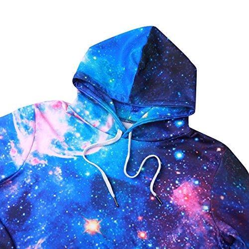 Freebily Décontracté 3d shirt Sportif Capuche Femmes Pullover Sweat Casual Longues S Imprimé shirts T Hoodie Hommes Manches Bleu 3xl Haut À azpar7q