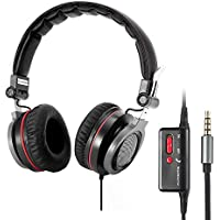 Conambo Active Noise Cancelling Headphones Stereo Headphones with Inline Mic for Smartphones Laptop PC, Foldable and Lightweight Travel Cell Phone Headsets(CQ3)