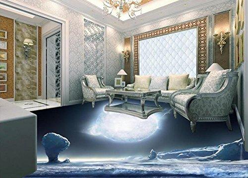 Glacier Tile Flooring - LWCX Customize PVC Flooring Self Adhesive Wallpaper 3D Floor Glacier Room Wallpaper Landscape 3D Floor Tiles Wallpaper 396X280CM