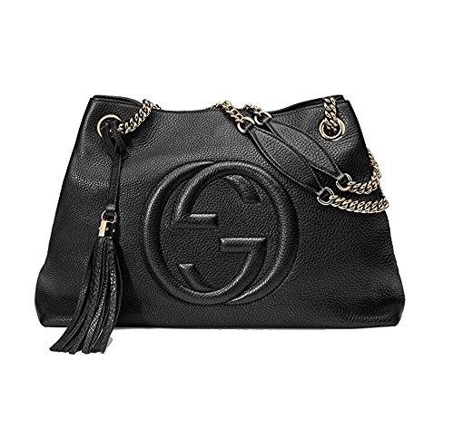 Alfa Gucci Black Leather Handbag