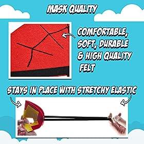 - 5137gLdXwAL - Girls Super Hero Cape and Mask Dress Up Costume