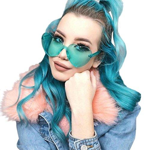Été F Femmes de forme de en colorées Lunettes soleil Soleil Lunettes Lunettes Mode Femme soleil Rawdah coeur Bonbon De Candy Couleur de UV intégrées Pour De xzxZ8qH4