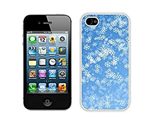 Special Custom Made Christmas snowflake White iPhone 4 4S Case 7