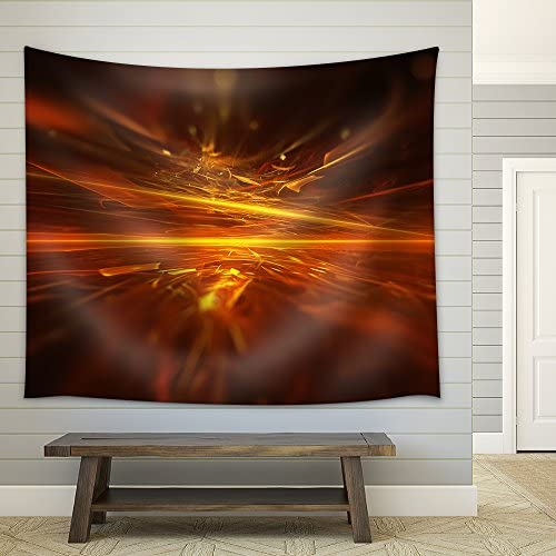 Fire Fractal Horizon Background Fabric Wall
