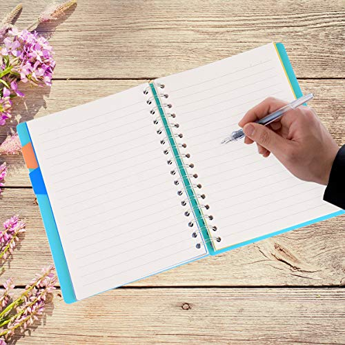 "Spiral Notebook, 5 Subject, Wide Ruled Paper, 120 Sheets, 8.3"" x 5.7"", Wirebound A5 writing Memo Diary Planner Journals for Travelers, Students and Office, Xyark by XYark (Image #2)"