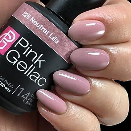 Pink Gellac Nail Gel Polish Shellac Acrylic Nail Uncovered3