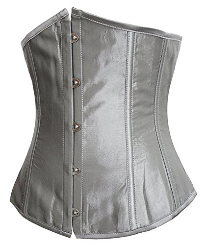 Betty Sam Comfortable Fashion Womens Faux Leather Sexy Underbust Waist Training Corset (Sexy Maid Lingere)
