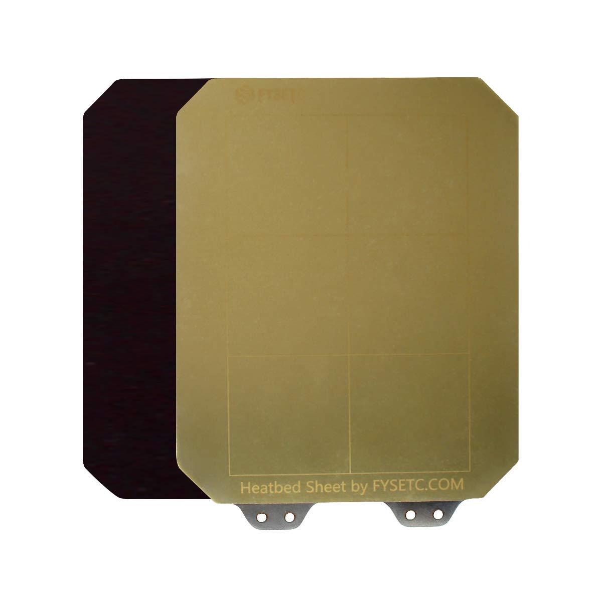 FYSETC3D 인쇄 BUILDPLATE 강철 스프링 시트 침대 W   코너 절단 160X130MM   6.3X5.1INCH PEI+B 자기 설치에 대한 기본 MONOPRICE 선택 미니 V2   V1   PRO   V3   MALYAN M200