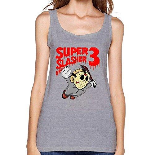 SUNRAIN Women's Jason Voorhees Friday The 13th Art Tank Top]()