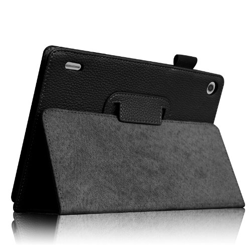 Fintie Acer A1-810 Folio Case - Premium PU Leather Cover Stand With Stylus Holder for Acer Iconia A1-810 7.9-Inch Android Tablet - Black