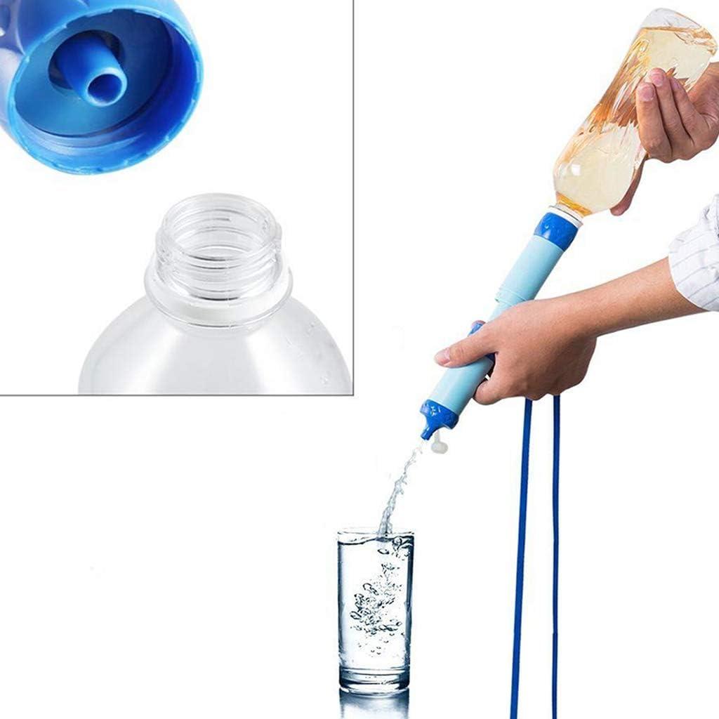 Oikupe - Pajita de purificación de agua a presión, filtro de agua salvaje, purificador de agua, personal exterior, camping, portátil, color azul: Amazon.es: Hogar