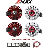 Weyland EMAX RS2306 2750kv 3-4S Brushless Motor 4 Pics CW for RC Racing Drone Multirotor White Edition RACESPEC Motor with 7 Color Led Bar 1 PCS