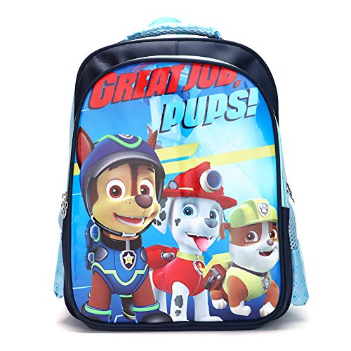 FairyShe Paw Patrol Kids Backpack,Toddler Preschool Backpack,Cartoon Waterproof Large Capacity Backpack for Boys