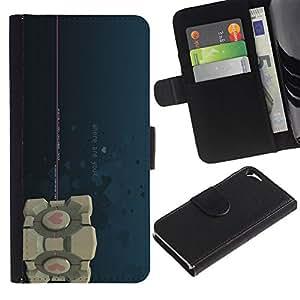 NEECELL GIFT forCITY // Billetera de cuero Caso Cubierta de protección Carcasa / Leather Wallet Case for Apple Iphone 5 / 5S // Where Are You - Apertura Cube