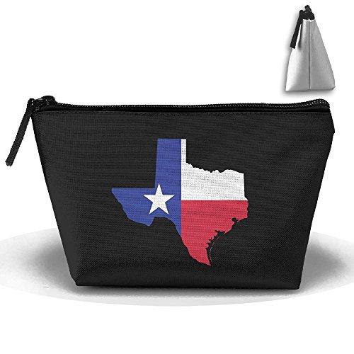 (MIPU SHANGMAO Texas Map Trapezoidal Storage Bag Double Print Handbag Zipper Package Coin Purse Cosmetic Pouch Wallet Pencil Holder Zipper)