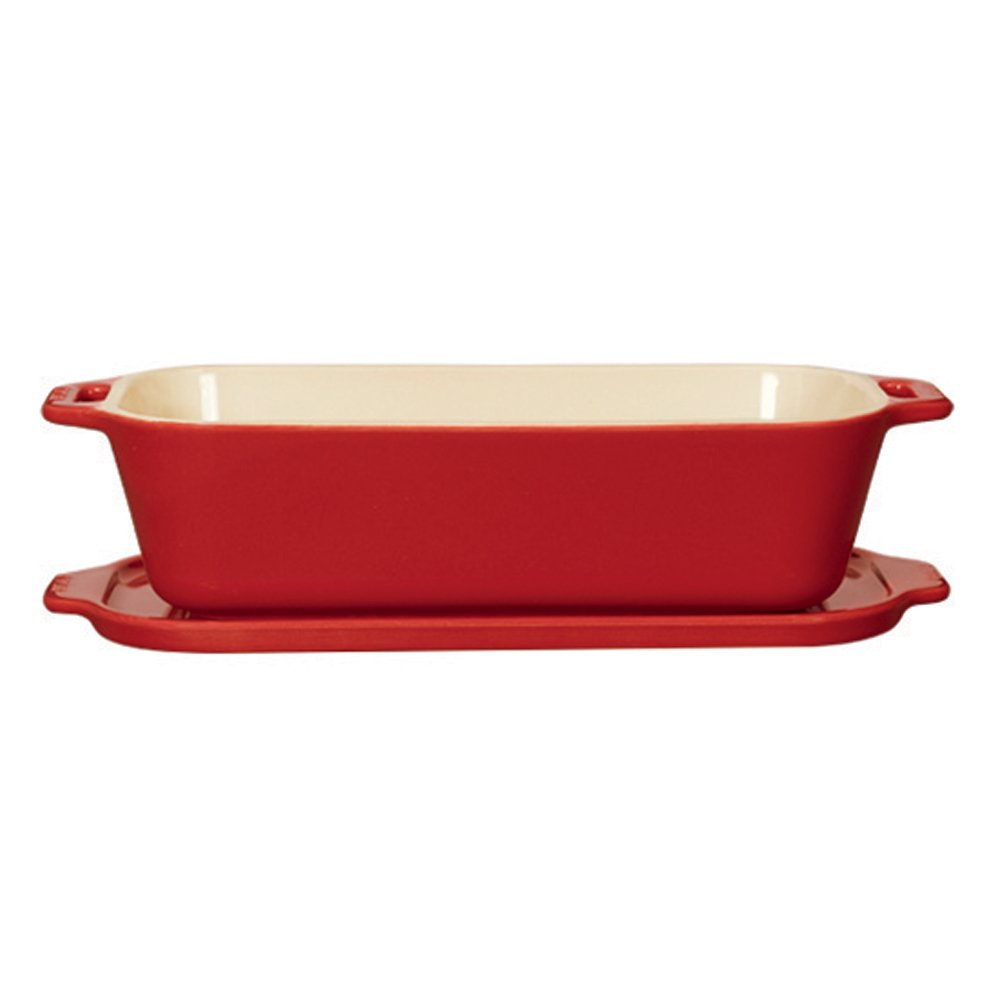 Staub 40510-803 Ceramics Covered Pate/Terrine Mold, 10'' x 4.5'', Cherry by Staub