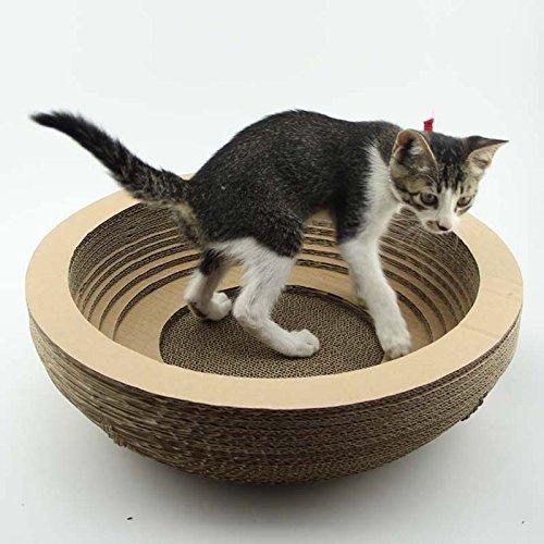 Cat scratcher with catnip cat scratcher cardboard cat import it all - Cat bed scratcher ...