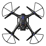 Gbell X183S 5G Drone with 1080P HD Camera WiFi FPV 6-Axis Gyro GPS Drone LED Follow Me - Large RC Quadcopter - Best Birthday New Year Gifts for Boys Girls Kids Adults,Black White (Black)