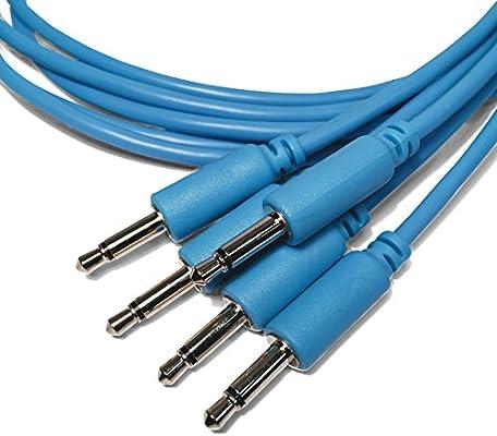 Paquete de 5 15//30//60//90//150cm Eurorack Modular Cables de Patch mono minijack de 3,5 mm