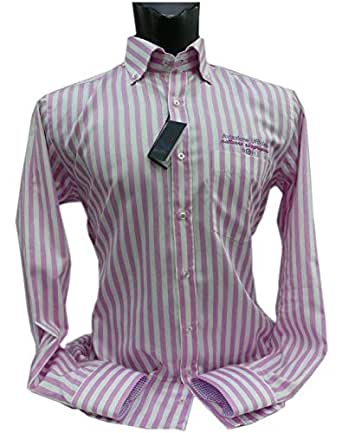 VanGils Pink & White Shirt Neck Shirts For Men