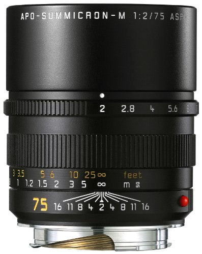 Leica 75mm f/2 Summicron-M Aspherical Manual Focus Lens for M System (Leica Digital Series)