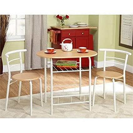 Amazoncom Bistro Set 3 Piece For Small Space In Kitchen