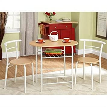 bistro set 3 piece for small space in kitchen dining room recreation - Kitchen Bistro Set