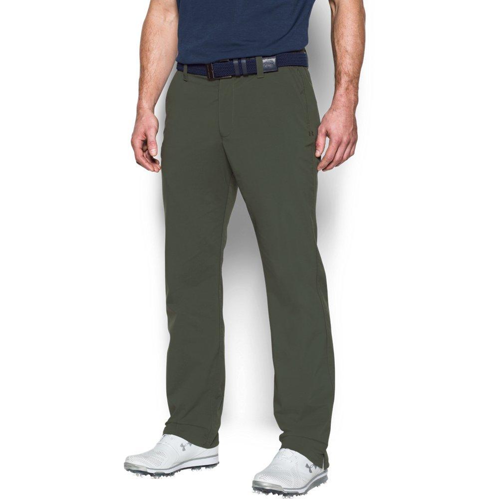 Under Armour Men's Match Play Golf Pants, Downtown Green /Downtown Green, 30/36 by Under Armour
