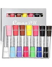 12 kleuren matte vloeibare eyeliner set: sneldrogende kleurrijke eyeliner potlood gepigmenteerde waterdichte smudgeproof blijvende gel eyeliner
