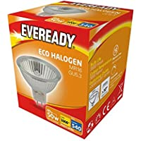 5 x 40w (50w) MR16 ECO Halogen Spot Light Bulb GU5.3 Cap 12v (Eveready S10111)