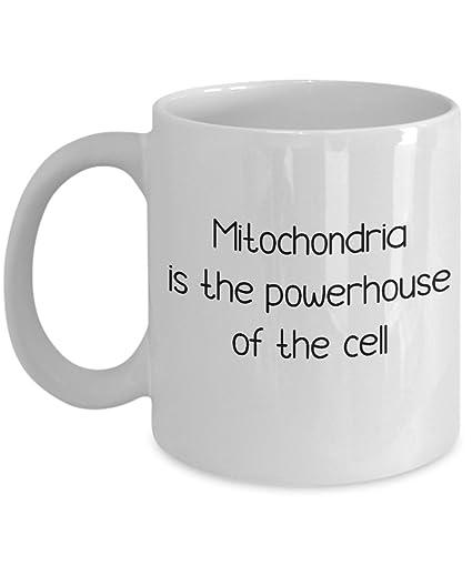 Amazon com: Funny Science Teacher Mug - Mitochondria Is The